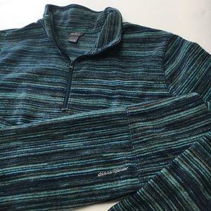 Eddie Bauer Pullover Sweater, 1/4 zip, sz XL